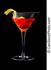 cosmo, cocktails, cosmopolite, fond, noir