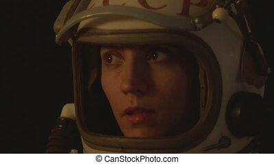 Cosmonaut Female Salute - Russian astronaut millitary...