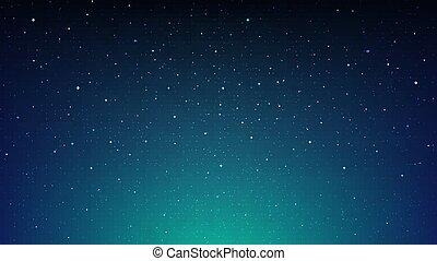 cosmos, bleu, briller, espace, nuit, étoilé, fond, ciel, étoiles