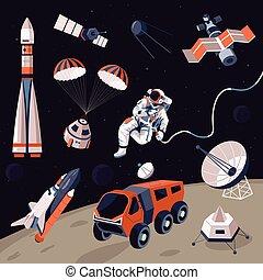 cosmos, exploration, astromomie, équipement science, espace...