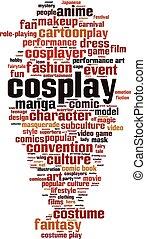 cosplay, mot, nuage