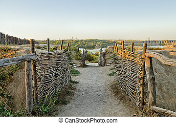 Zaporizhzhya Sich, Ukraine - Cossack fortification on the...