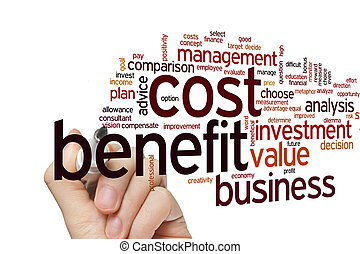 Cost benefit word cloud - Cost benefit concept word cloud...