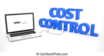 Cost Control - laptop notebook computer connected to a word...