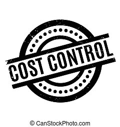 Cost Control rubber stamp. Grunge design with dust...