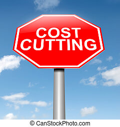 Cost cutting concept.