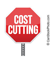 cost cutting illustration design over white background