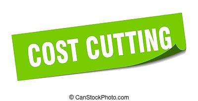 cost cutting sticker. square isolated label sign. peeler - ...