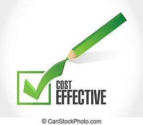 Cost effective check dart sign concept illustration design graphic