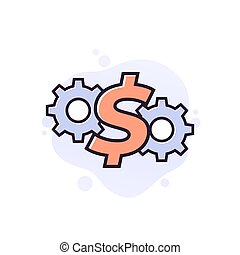 cost effective icon, financial concept, eps 10 file, easy to edit
