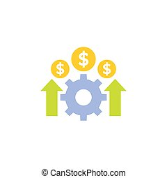 cost effective icon, financial efficiency vector, eps 10 file, easy to edit