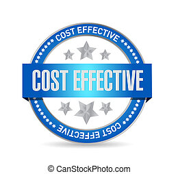 Cost effective seal sign concept illustration design graphic