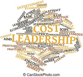 Cost leadership - Abstract word cloud for Cost leadership...