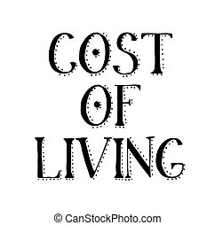 COST OF LIVING stamp on white