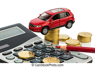 cost of the car. with calculator - car and calculator. ...