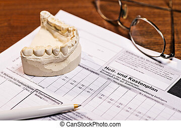 Cost of treatment at the dentist - Plaster cast of teeth and...