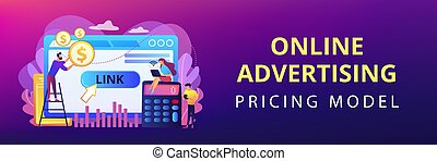 Cost per acquisition CPA model concept banner header. -...