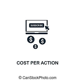 Cost Per Action CPA icon. Creative element design from content icons collection. Pixel perfect Cost Per Action icon for web design, apps, software, print usage