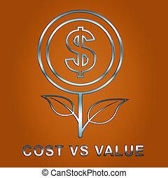 Cost Versus Value Flower Portrays Spending vs Benefit...