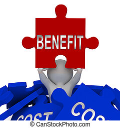 Cost Vs Benefit Jigsaw Means Comparing Price Against Value -...