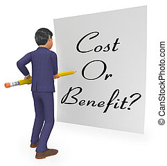 Cost Vs Benefit Note Means Comparing Price Against Value -...