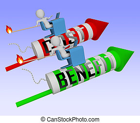 Cost Vs Benefit Rocket Means Comparing Price Against Value -...
