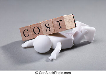 Cost Wooden Blocks On Human Figure