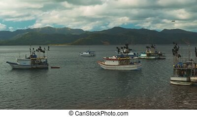 costa, évalué, baie, bateaux, version, rica, pêcheur