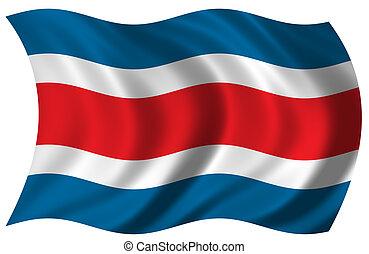 costa , σημαία , rica