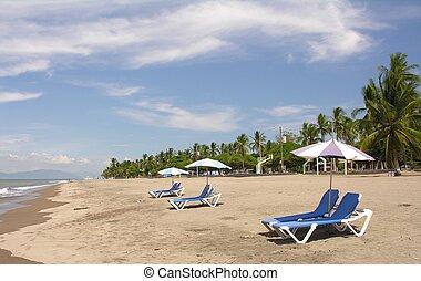 costa, 浜, rica