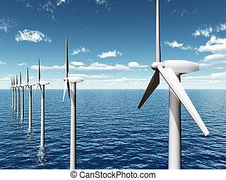 costa afuera, granja de viento