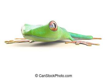 costa, agalychnis, callidrias., 樹, 被隔离, 青蛙, rica, 熱帶, 插圖, white., 雨林, 3d, 紅色 eyed