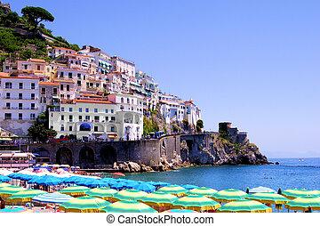 costa, amalfi, spiagge
