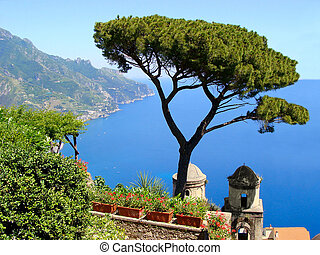 costa, amalfi, vista
