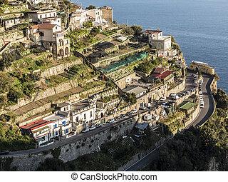costa, amalfi, vista