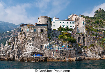 costa amalfi, vista, italia