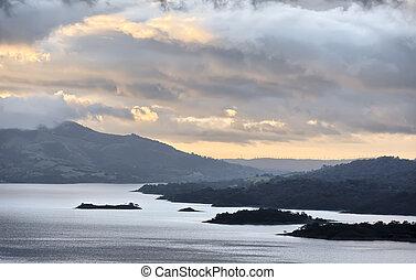 costa,  Arenal, meer, Hellingen, vulkaan,  rica