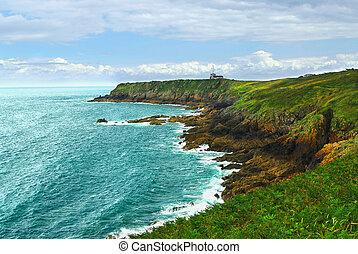 costa atlantico, in, bretagna