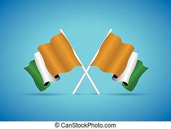 costa avorio, bandiera
