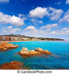 Costa Brava beach Lloret de Mar Catalonia Spain