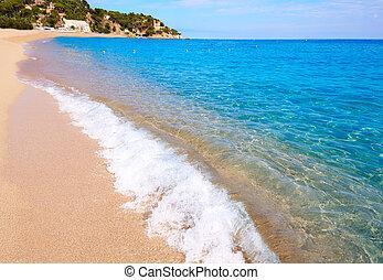 Costa Brava beach Lloret de Mar in Catalonia
