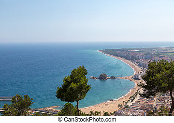 Costa Brava, overlooking the beach in Blanes from on high