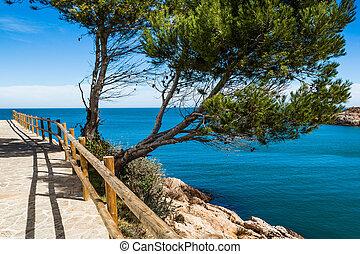 Costa Brava pathway - View of this Costa Brava pathway in...