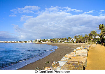 Costa del Sol waterfront promenade along the Mediterranean...