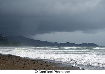 costa, dominical, playa, rica
