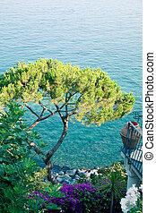 costa, italy., amalfi, vista