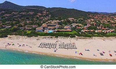 Costa rei beach seen from above #2
