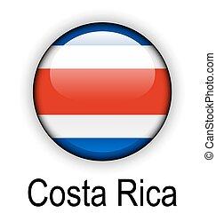 costa rica ball flag - costa rica official flag, button ball