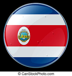 Costa Rica, isolated on black background.