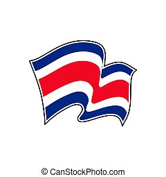 Costa Rica flag. Vector illustration. San Jose